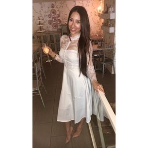 White lace dress- small